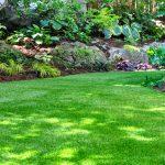 tuin met kunstgras
